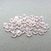 40 unids. Rondelzinho facetado Cristal Rose de France 3mm CACG-172