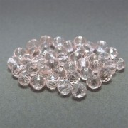 40 unids. Rondelzinho facetado Cristal Rose de France 4mm CACG-178