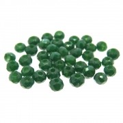 40 unids. Rondelzinho facetado Cristal Verde Musgo 3mm CACG-170