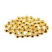 50 unids. Conta Bolinha 3mm em ABS Folheado Ouro 18k OF-CT29