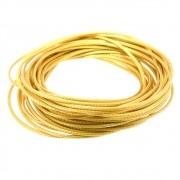 5 metros Cordão Encerado Dourado 1mm FICE-06