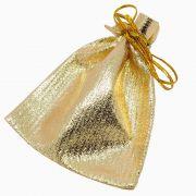 5 unids. Saquinho Tecido Metalizado Dourado 7x9cm EM-PRE11