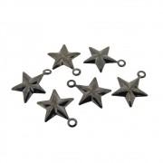 6 unid. Pingente estrela folheado em Grafite GF-PIN07