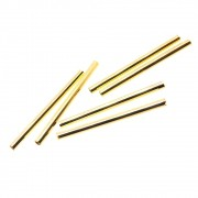 6 unids. Canutilho 1,5x20mm Folheado Ouro 18k OF-CN25