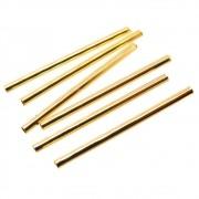 6 unids. Canutilho 1,5x25mm Folheado Ouro 18k OF-CN26