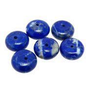 6 unids. Conta Rondel de Lápis Lazuli Extra 10mm CALL-27