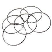6 unids. Elo Argola Diamantada 22mm Folheado Grafite GF-EL194