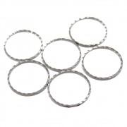 6 unids. Elo Círculo Diamantado 10mm Folheado Grafite GF-EL223
