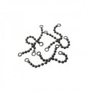 6 unids. Elo diamantado folheado em Grafite 25mm GF-EL105