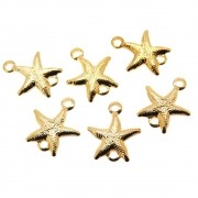 6 unids. Elo Estrela do Mar Folheado Folheado Ouro 18k OF-EL219