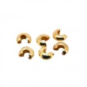 6 unids. Entremeio Fixador Anilha Lisa 5mm Folheado Ouro 18k OF-EN120