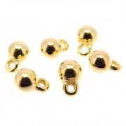 6 unids. Pingente Bolinha 6mm Folheado Ouro 18k OF-PIN559
