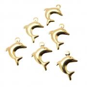 6 unids. Pingente golfinho folheado Ouro 18k OF-PIN107