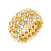 Aliança Semijoia Elysium Zircônias Light Folheado Ouro 18k AN028