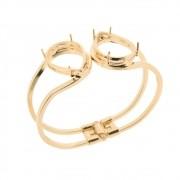 Bracelete Articulado c/ Dupla Caixa Gota 18x25 folheada em Ouro 18k OF-PU10