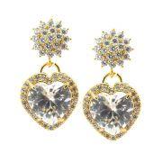 Brinco Bright Paris Zircônia Diamond Folheado Ouro 18k BRPM-364