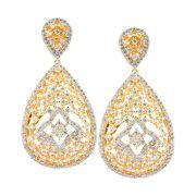 Brinco Semijoia Lilian Cravejado Zircônias Diamond Folheado Ouro 18k BR037