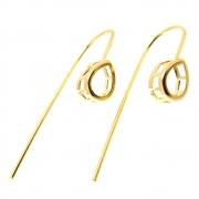 Caixa Fit Brinco Gota 6x8 Folheado Ouro 18k CXGO0608-52