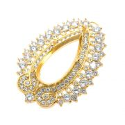 Caixa Jaipur Gota 10x22mm Cravejada Zircônias Folheado Ouro 18k CXGO1022-10