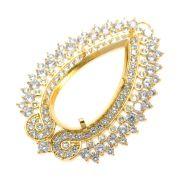 Caixa Jaipur Gota 15x30mm Cravejada Zircônias Folheado Ouro 18k CXGO1530-07