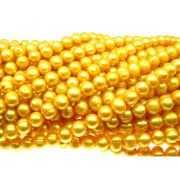 Fio 40cm Pérolas de rio batata frisada gold 8mm FIPE-127