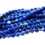 Fio Bola Facetada 3mm Lápis Lazuli com 135 Contas FILL-22