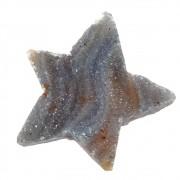 Geodo de Ágata Pingente Estrela 3cm Meio Furo CAAGT-188