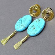Kit Brinco Turquesa Folheado Ouro 18k KITBRPM-378
