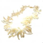 Kit Colar Semijoia Madrepérola palito Folheado Ouro 18k KITCLPM-229