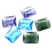 Mix 3 pares Cristal Color Baguete 10x14 Cores Sortidas PE-023