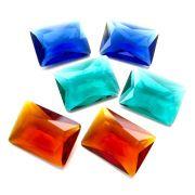 Mix 3 pares Cristal Color Baguete 13x18 Cores Sortidas PE-024
