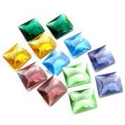 Mix 6 pares Cristal Color Baguete 8x10 Cores Sortidas PE-022