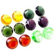 Mix 6 pares Cristal Color Moeda 17 Cores Sortidas PE-026
