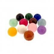 Mix com 12 unids. Contas Multicoloridas Bola 10mm CAMIX-04