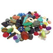 Mix com 300 gramas de Contas de Pedras Multicoloridas em Diversos Formatos CAMIX-06
