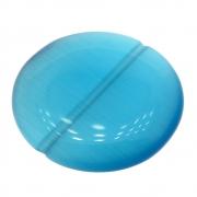 Moeda Cristal Olho de Gato Blue Sky 25mm CACG-299