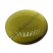 Moeda Cristal Olho de Gato Verde Musgo 25mm CACG-298