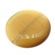 Moeda Cristal Olho de Gato Yelow 25mm CACG-297