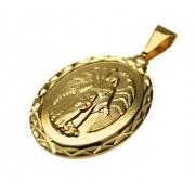 Pingente medalha Anjo da Guarda Folheado Ouro OF-PIN309