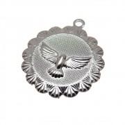 Pingente Medalha Espírito Santo 20mm Folheado Grafite GF-PIN626