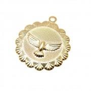Pingente Medalha Espírito Santo 20mm Folheado Ouro 18k OF-PIN626