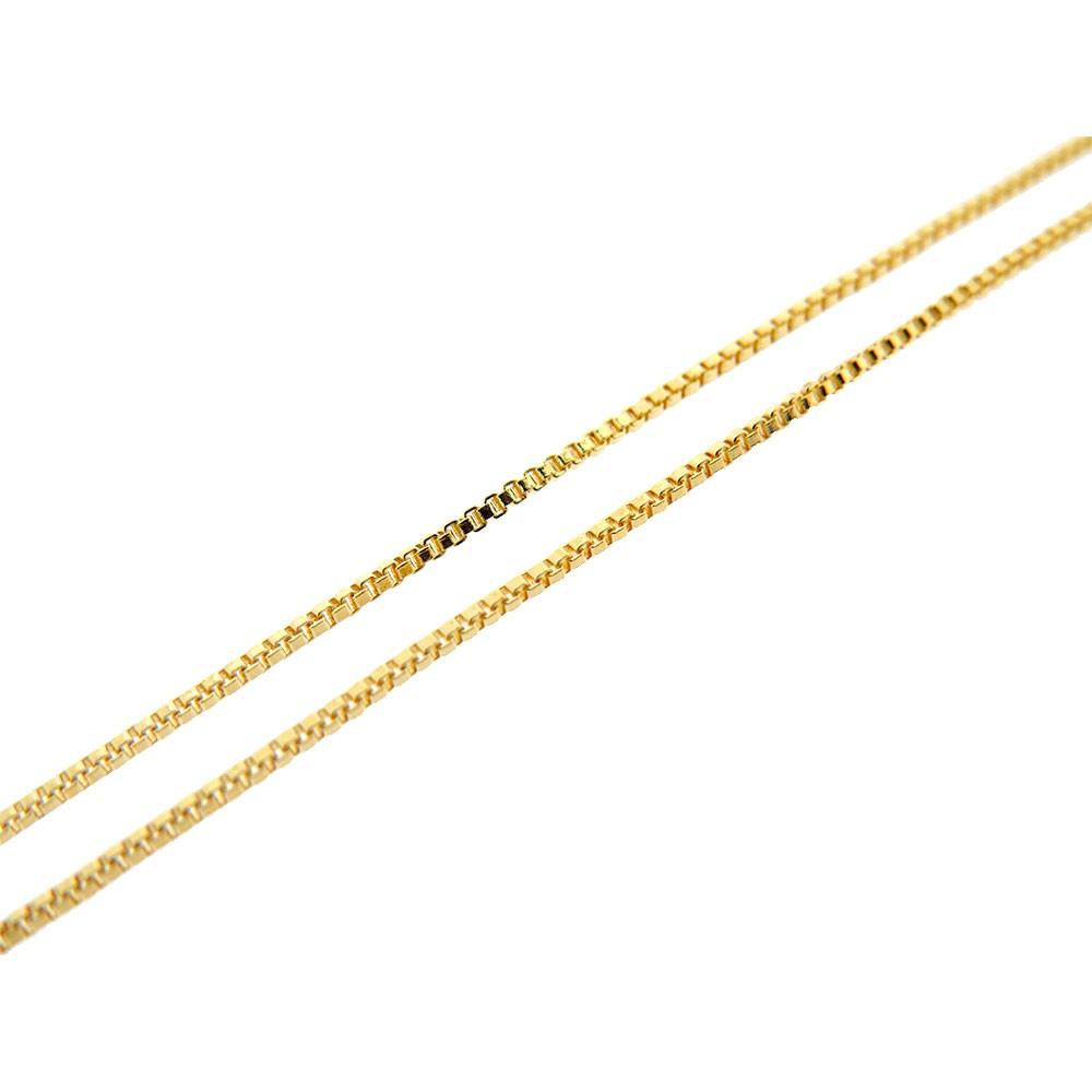 71bea5fdd7ff5 Corrente Veneziana 1mm Folheado Ouro 18k OF-CR69