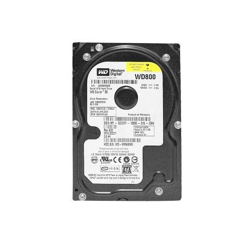 Hd De Desktop 80gb Sata Western Digital 7200 Rpm