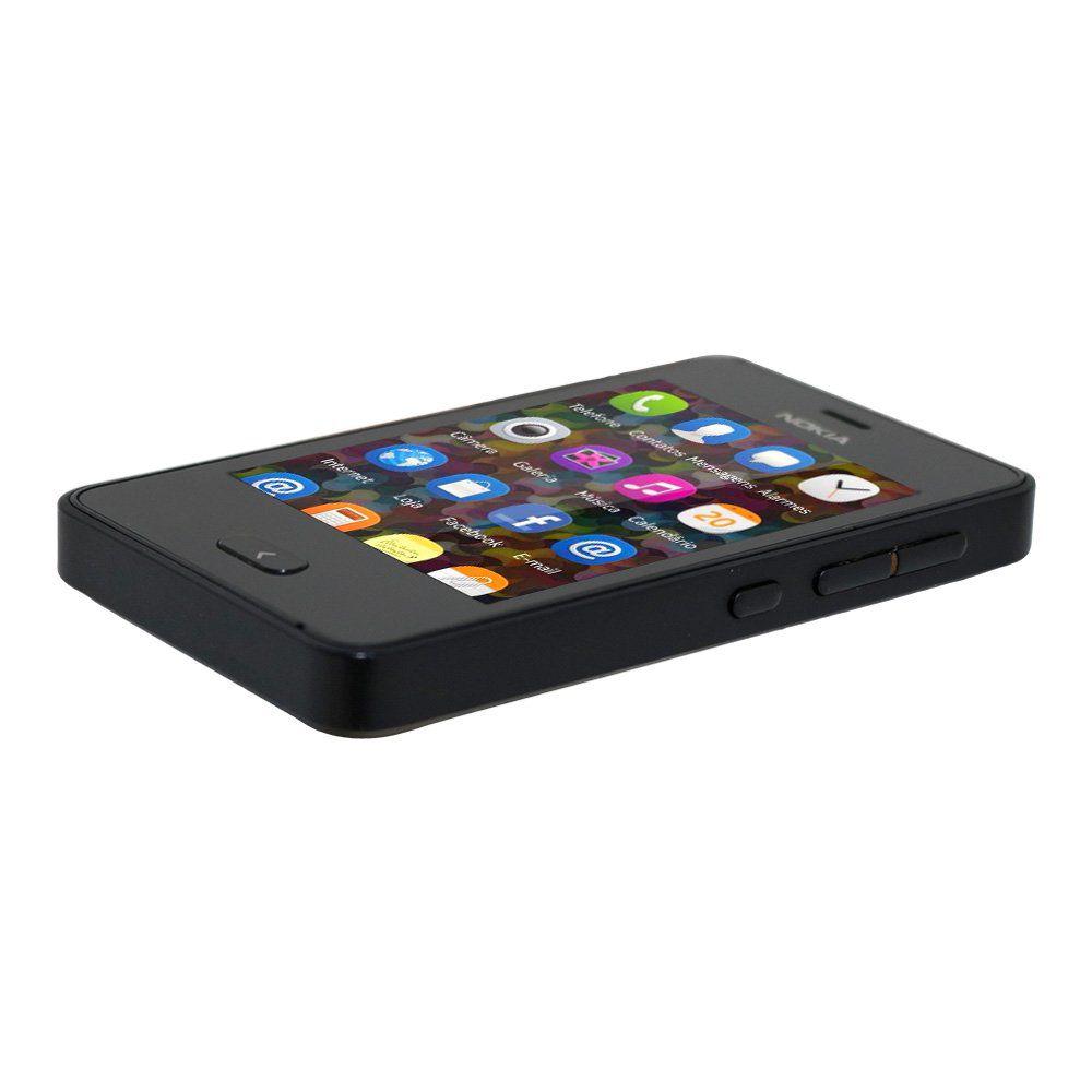 Celular Nokia Asha501 Dual Sim Preto 128MB - Usado