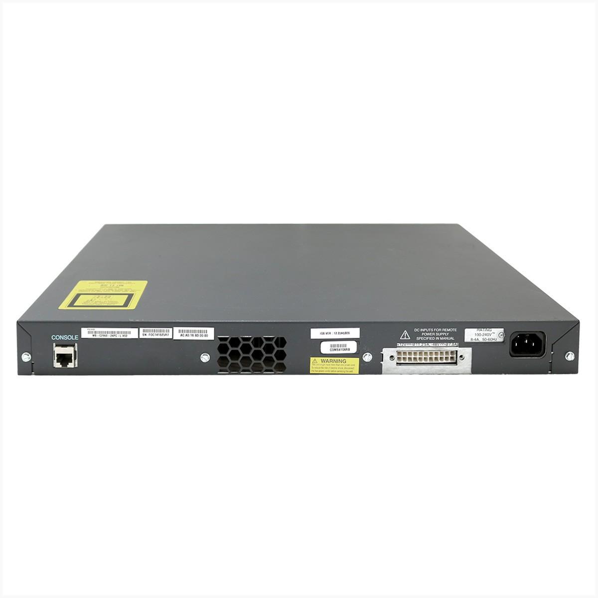 Switch Cisco WS-C2960-24PC-L  24x10/100 - Usado