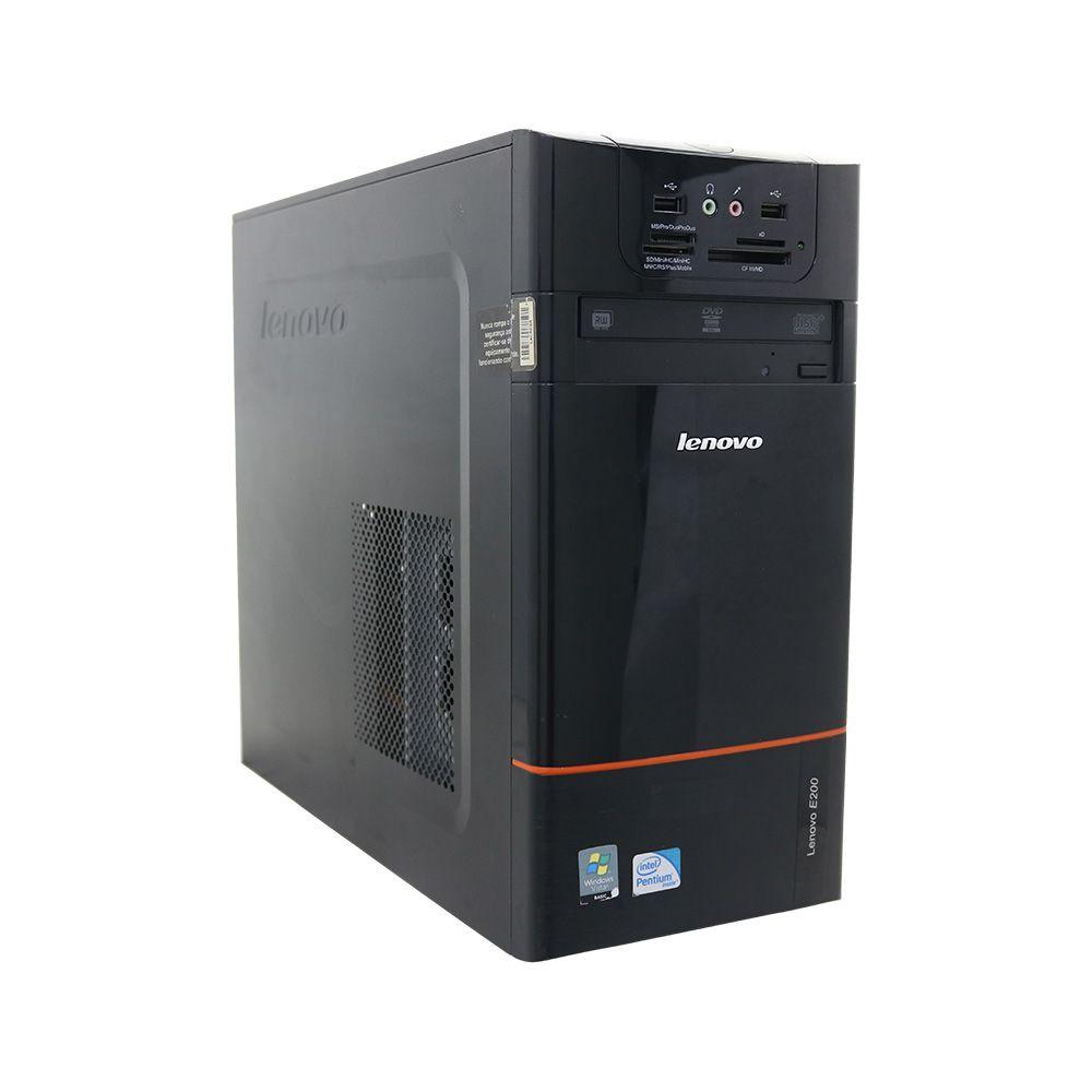 Desktop lenovo e200 pentium dual core sem memória e sem hd - usado