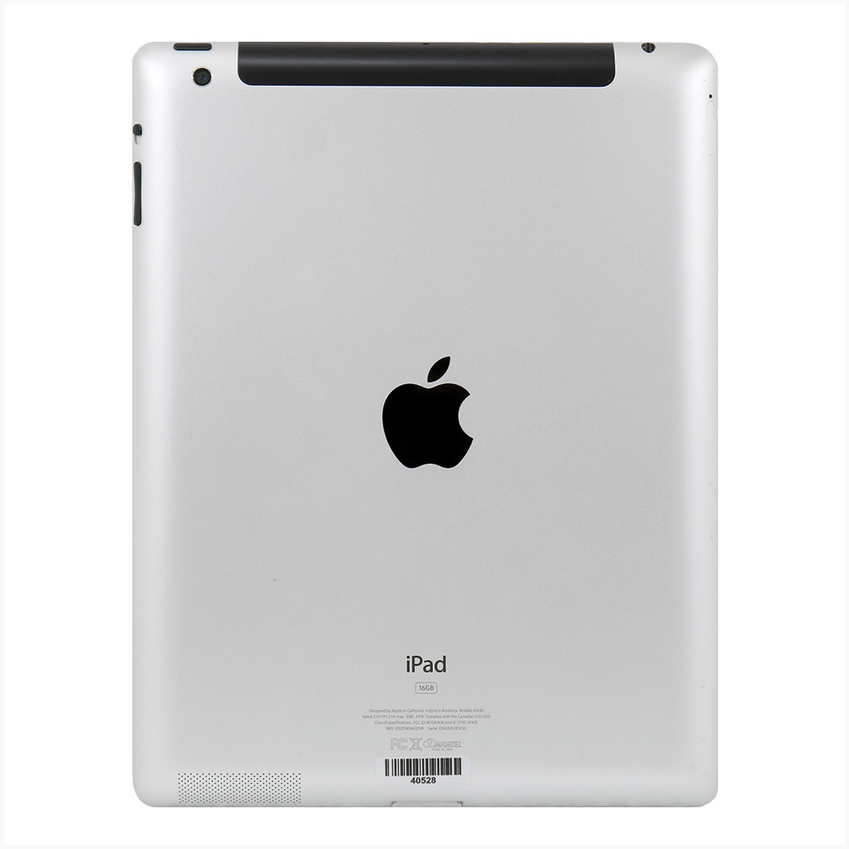 Ipad apple a1430 wi-fi - 4g 16gb preto - usado