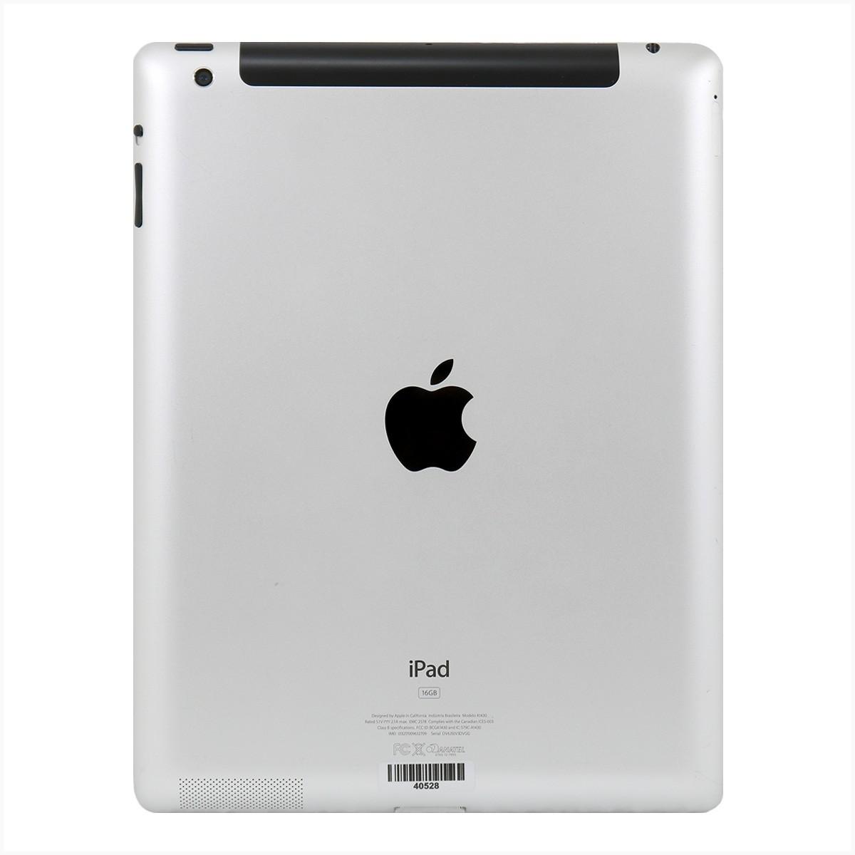 Ipad apple a1430 wi-fi - 4g 16gb preto - usado