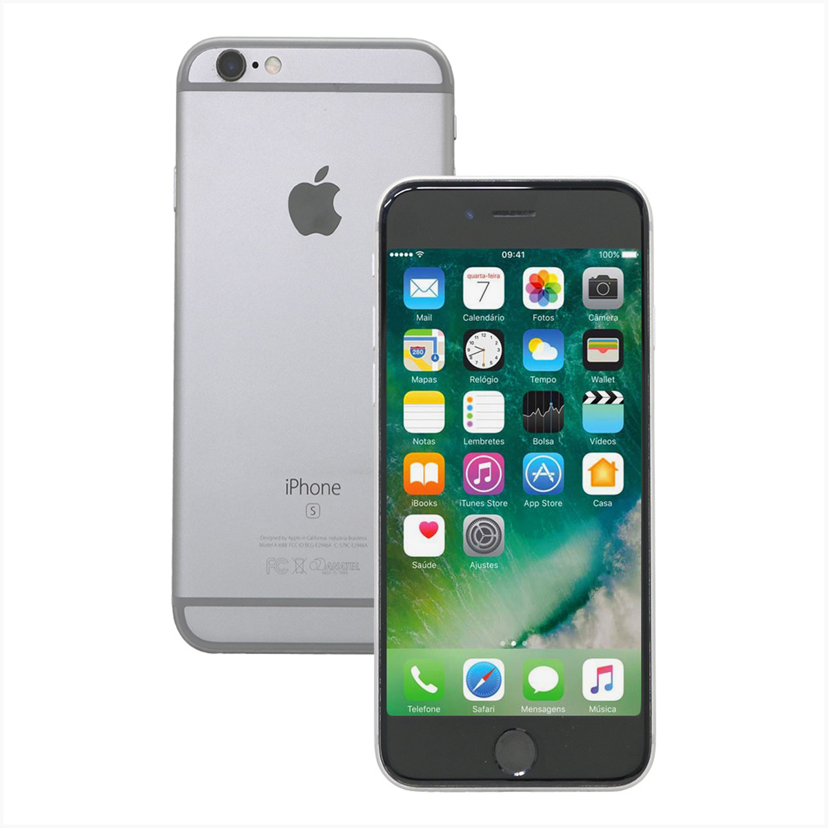 Iphone 6s 32gb prata a1688 - usado