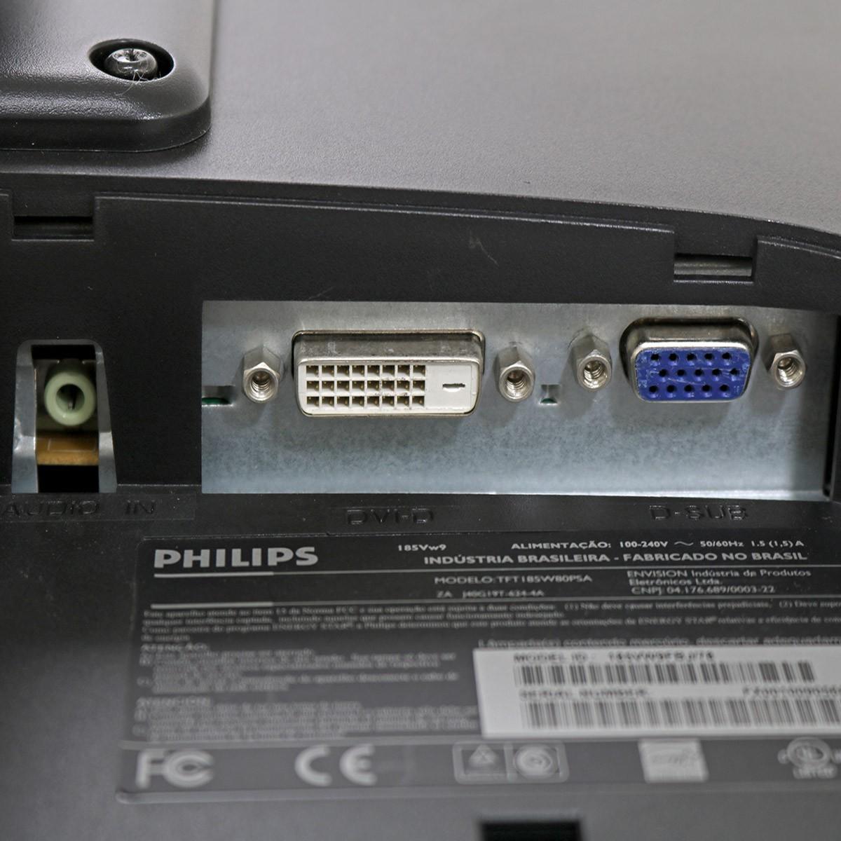 """Monitor philips 185vw 18"""" - usado"""